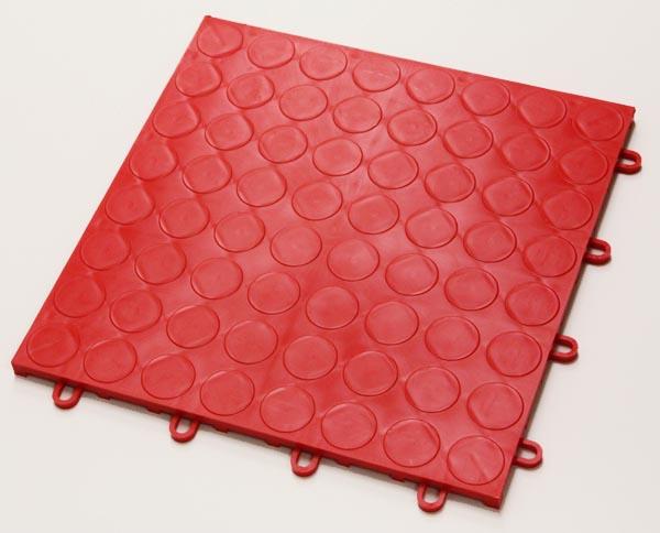 Circular Disk Interlocking Garage Floor Tiles