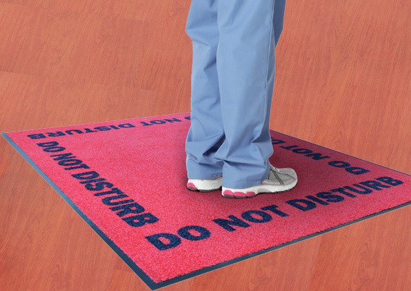"""No Talk"" Do Not Disturb Carpet Mats"