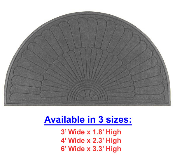 Waterhog Half-Oval Grand Premier Door Mats